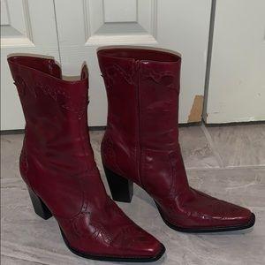 Antonio Melani  leather ankle heeled cowboy boots